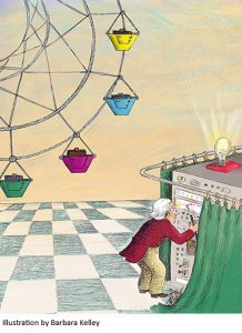 Illustration of wizard of oz