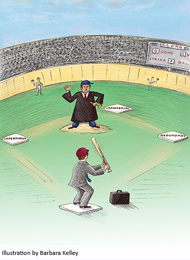 Illustration of baseball diamond by Barbara Kelley