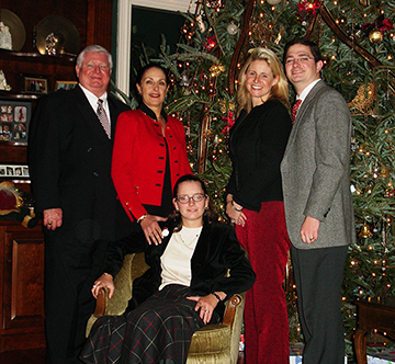 The Lewis family gathers for the holidays: Fred, Judy, Elle Anderson and her husband Clarke Anderson, and, Lindsay, seated.