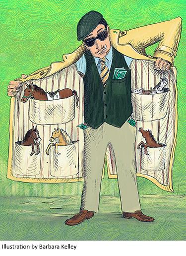 Illustration of shady character by Barbara Kelley